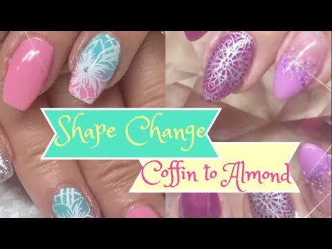 How to: Nail Shape Change from Coffin to Almond