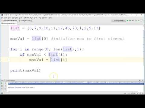 Core Algorithms - Finding Max/Min Element: Python 3