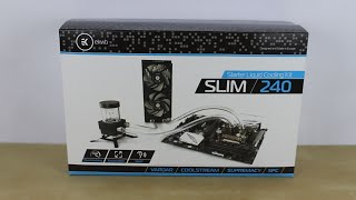 Ekwb Starter Liquid Cooling Kit - Slim 240 - Unboxing And Installation [hd]