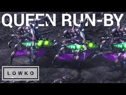StarCraft 2: THE QUEEN RUN-BY!