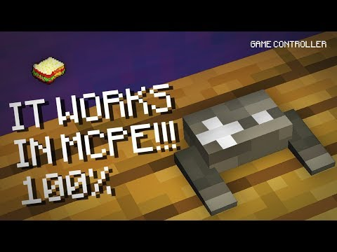 Minecraft, MCPE | How to make a Game Controller | 100% NOT CLICKBAIT