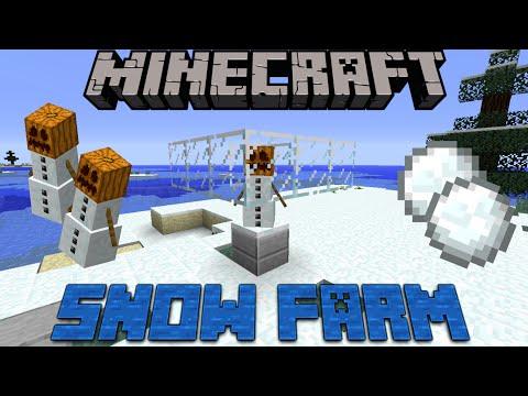 MINECRAFT SNOW FARM 1.11 & 1.12 / PC / MCPE / XBOX / PS4