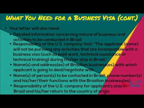 HOW TO GET A BRAZIL VISA! (Fast and Easy)