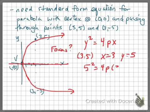 p 47 parabola , vertex and two points
