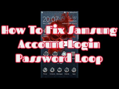 How To Fix Samsung Account Login Password Loop