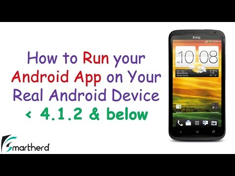 How to Run your Android Eclipse App on your Phone (USB Drivers and Settings)  4.1.2 and below