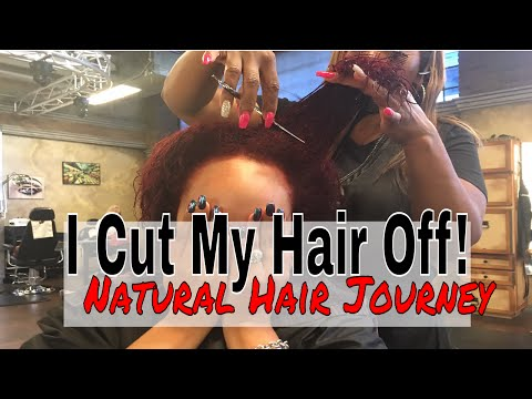I CUT MY HAIR! Big Chop On Heat Damaged Natural Curly Hair 3B/3C | GIVEAWAY CLOSED