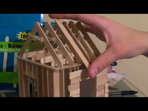 [4/6] How To Build a Popsicle Stick House - Roofing Part 1/2