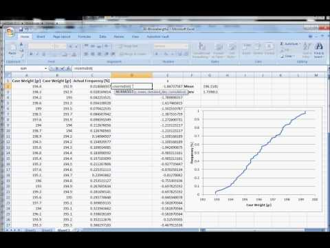 How to Construct a Normal Cumulative Distribution in Excel 2007