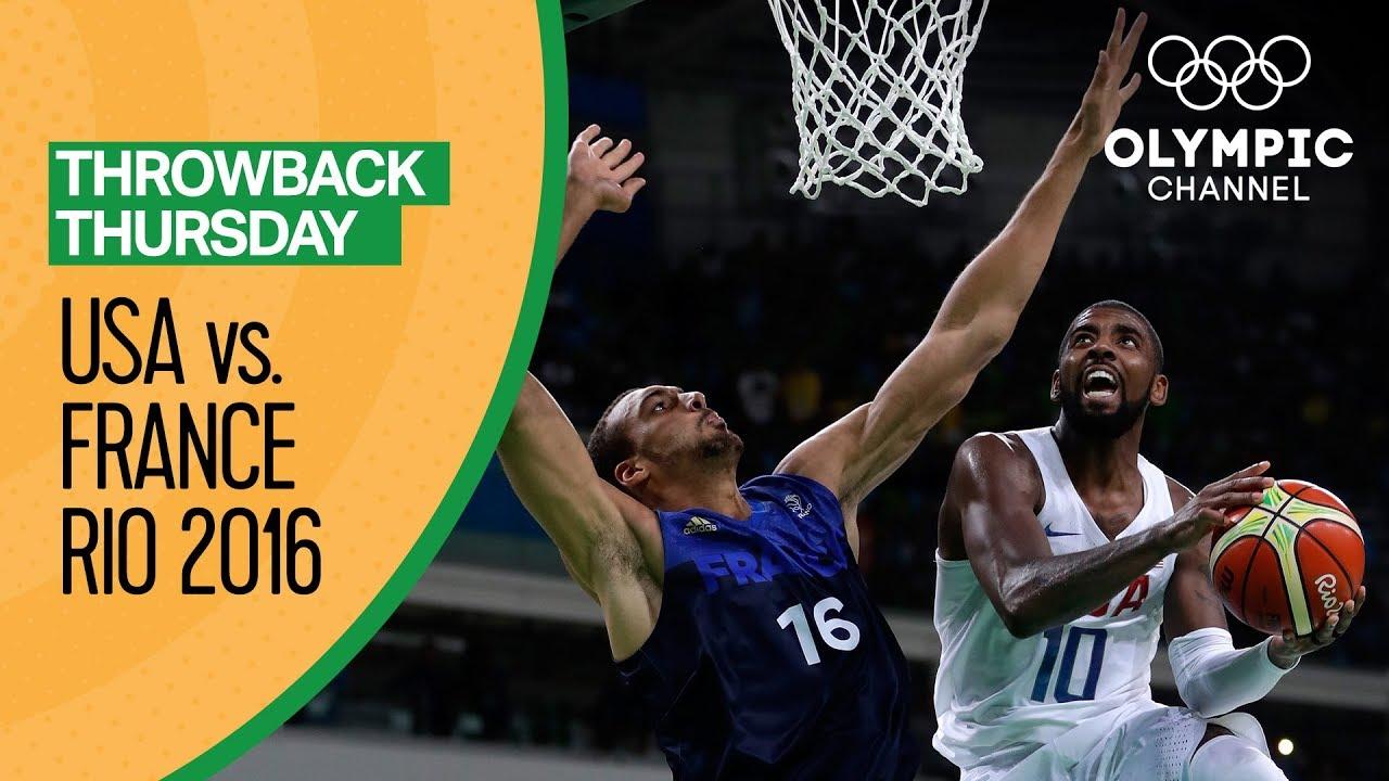 USA vs France - Basketball   Rio 2016 - Condensed Game   Throwback Thursday