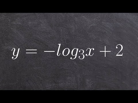 Finding the domain asymptote and x intercept of a logarithm