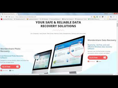 How to recover deleted file using Wondershare data recovery (Arabic)