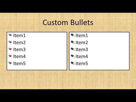 Add Custom Bullet Points to a Presentation