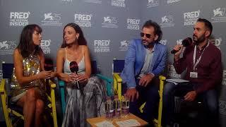 Pablo Trapero, Bérénice Bejo, and Martina Gusmàn - LA QUIETUD - 75 Venice Film Festival