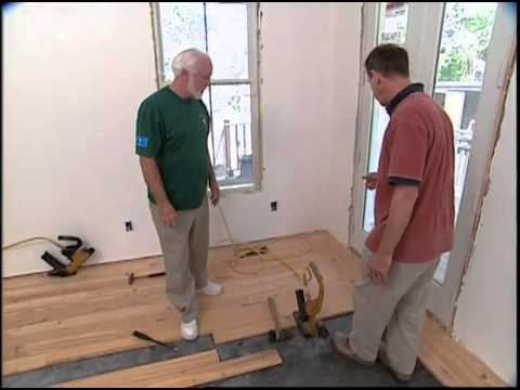 Installing a Reclaimed Heart Pine Floor