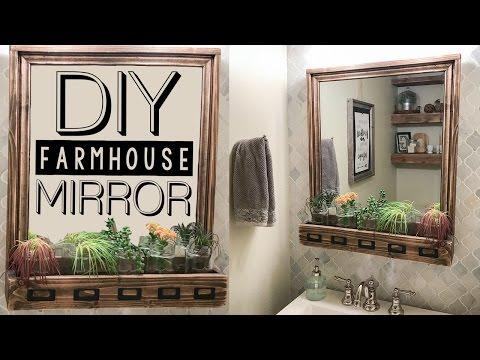 DIY Farmhouse Storage Mirror   Shanty2Chic