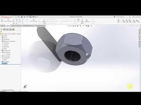 SolidWorks tutoial - Nut Design In Solidworks Easy Steps (Basic SolidWorks)