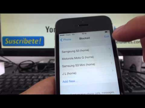 How to unblock contact iphone 5s 5c 5 4s iOS 7 English Channeliphone