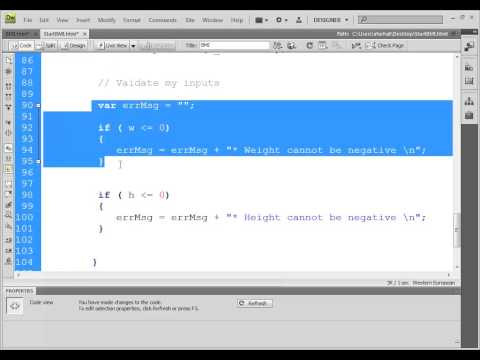 BMI Example  javaScript and CSS