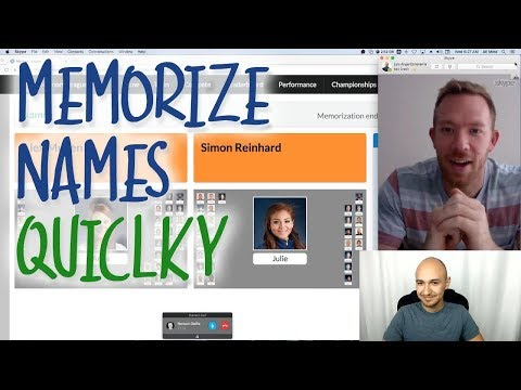 How to Memorize Names Quickly in Memory Competitions | Nelson Dellis, Luis Angel, Alex Mullen, Simon