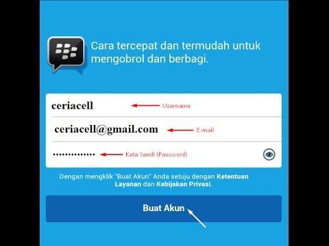 Cara Membuat Akun Blackberry ID Android