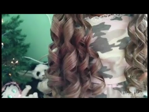 How to ringlet Curl your american girl dolls hair!