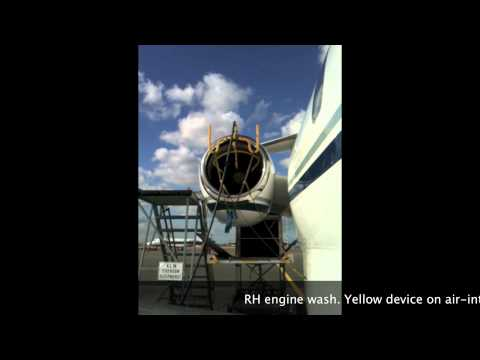 AIRCRAFT ENGINE CLEANING