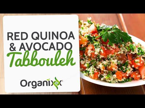 Red Quinoa Avocado Tabbouleh | Quinoa Salad | Organixx Recipe