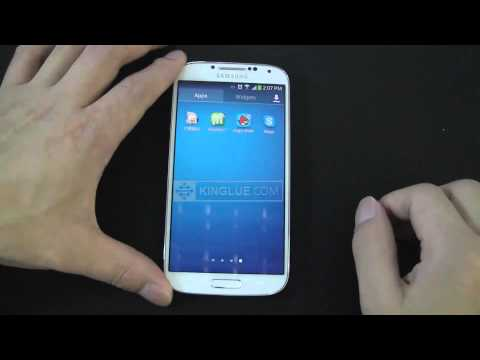 How to hide/show hidden apps on the Samsung Galaxy S4 ?