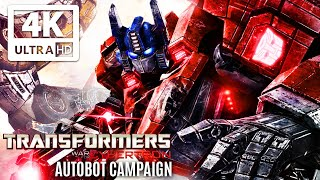 TRANSFORMERS: WAR FOR CYBERTRON All Cutscenes (Autobot Campaign) Game Movie 4K 60FPS Ultra HD
