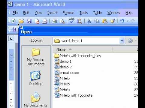 Microsoft Office Word 2003 Compare documents side by side