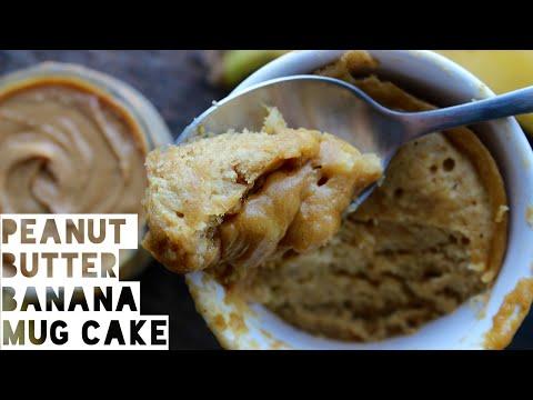 Healthy Mug Cake Recipe   1 Minute Peanut Butter And Banana Mug Cake
