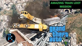 [Hindi] GRAND THEFT AUTO V | AMAZING TRAIN LOOT MISSION AND STEALING NUKE FROM THE FACILITY