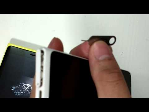 How To: - Getting the SIM tray out from Nokia Lumia 920/900