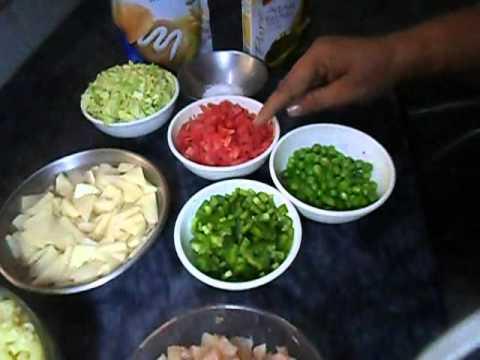 Pakistani desi food Chicken macaroni salad recipe part-1(AAmna's Kitchen)