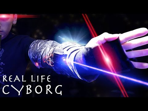 How To Make a CYBORG LASER WIFI GLOVE! - Lasers, Lights, Wifi Jamming!!!