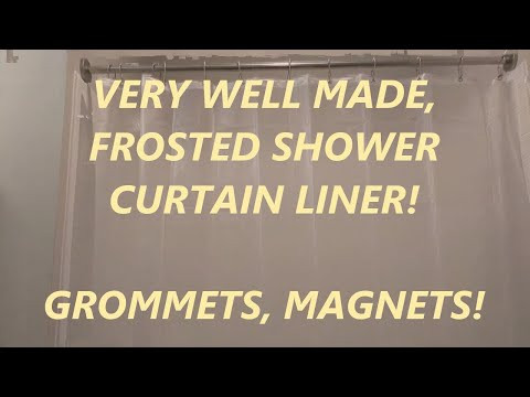 Review Aoohome Frosted Shower Curtain Liner, Eva Extra Long Shower Curtain 72x78 Inch