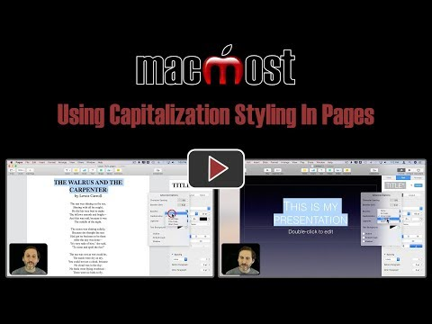 Using Capitalization Styling In Pages (MacMost #1830)
