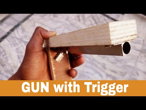 How To Make a GUN with Trigger at Home | homemade weapon