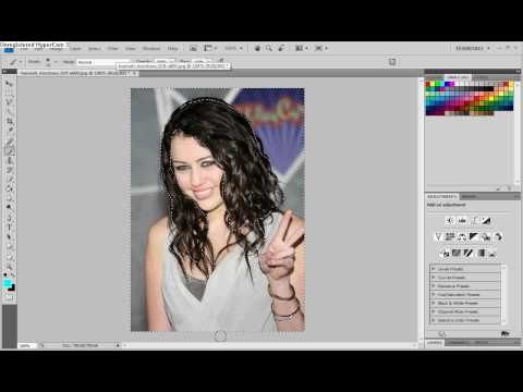 how to Change Hair Color Using Photoshop CS4