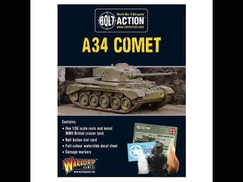 Warlord Games : Bolt Action : 34 Comet : 1/56 Scale Model : In Box Review