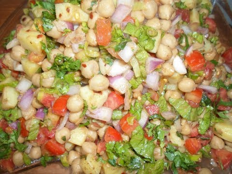 Fry Chana Chaat Recipe By AAmna's Kitchen
