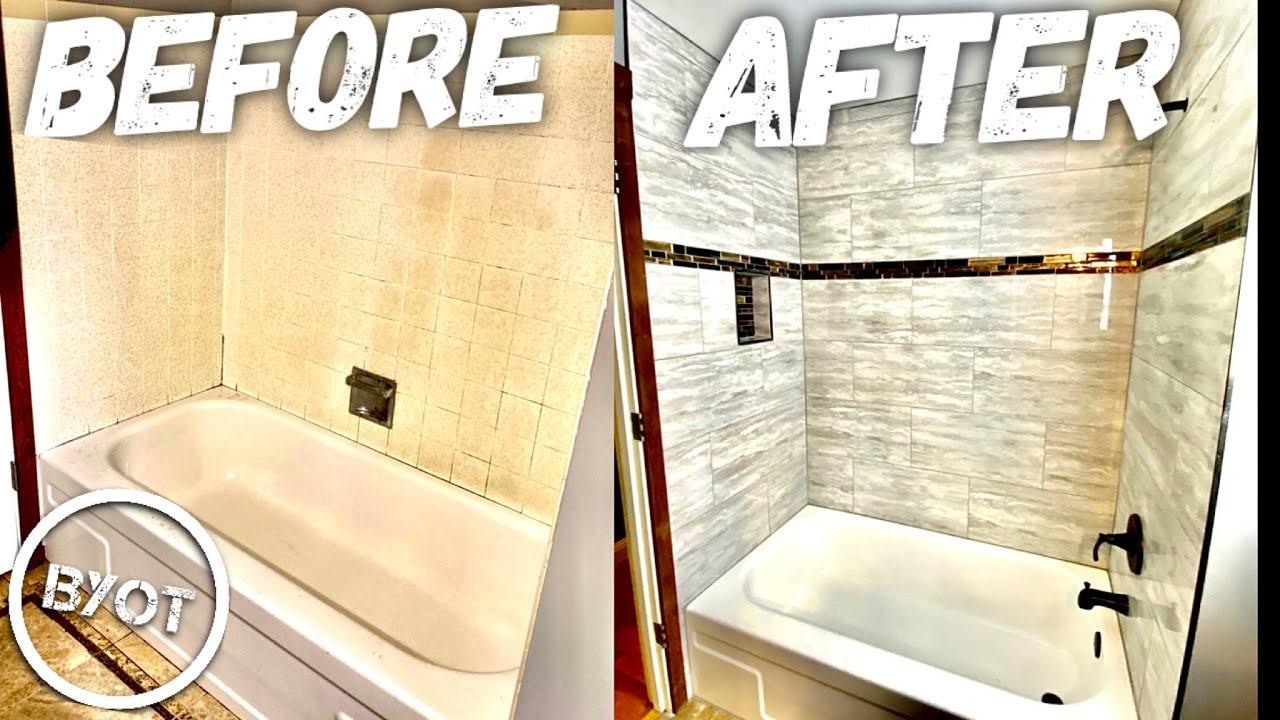 DIY Shower Remodel : START To FINISH (Part 1 of 2)