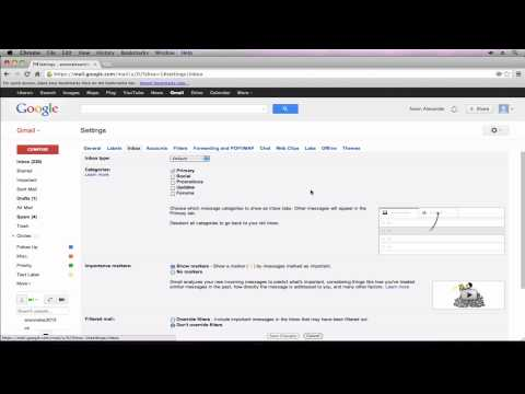 Gmail Tutorial 2013- Revert to Old Gmail Inbox Look (Part 8)
