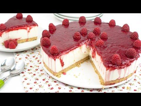 No-Bake Raspberry & Greek Yogurt Cake - How to Make Greek Yogurt & Raspberry Cake