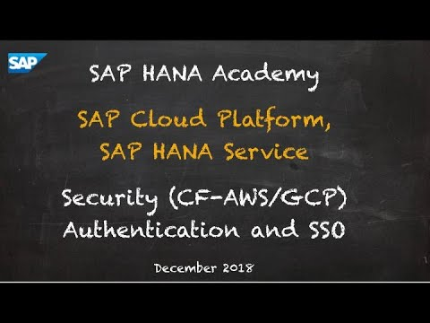 [2.0 SPS 04] SAP HANA Service, Security, Authentication (CF) - SAP HANA Academy