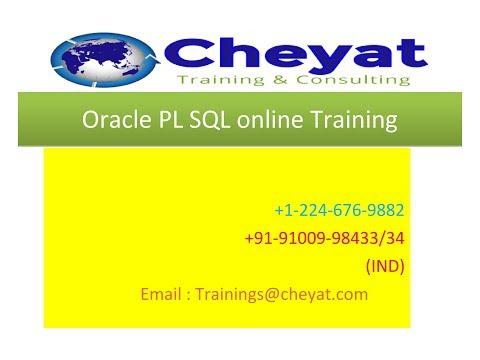 Oracle PlSQL Online Training Demo Video