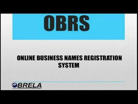 ONLINE BUSINESS NAMES REGISTRATION SYSTEM VIDEO GUIDELINES