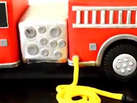 How to make cake Fire truck birthday cake