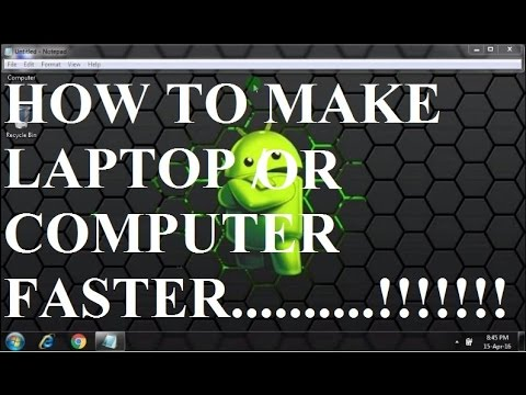 How to make your PC/Laptop run faster and smoother 2016 EDITION